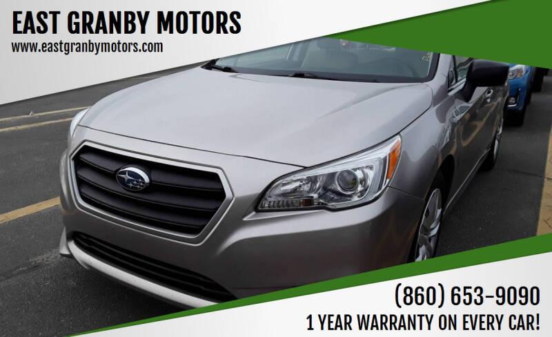 2015 Subaru Legacy for sale at EAST GRANBY MOTORS in East Granby CT