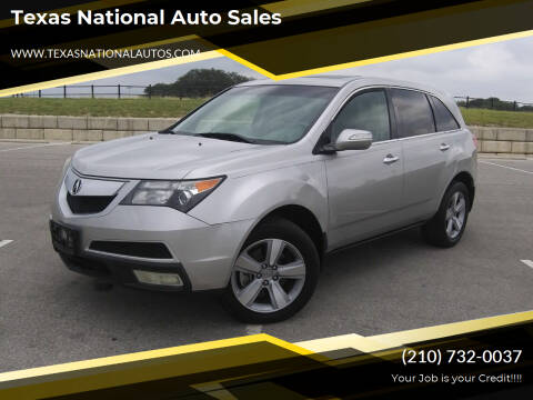 2011 Acura MDX for sale at Texas National Auto Sales in San Antonio TX