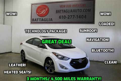 2014 Hyundai Elantra Coupe for sale at Battaglia Auto Sales in Plymouth Meeting PA