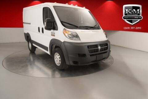 2018 RAM ProMaster Cargo for sale at K&M Wayland Chrysler  Dodge Jeep Ram in Wayland MI