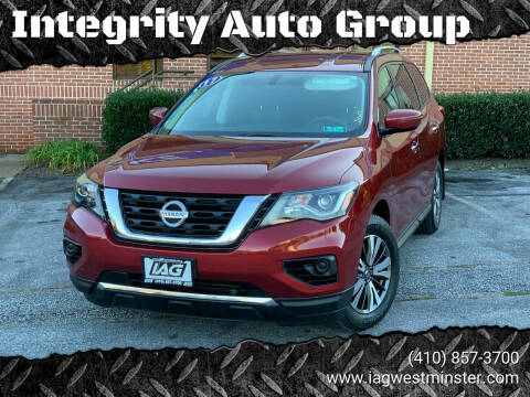 2017 Nissan Pathfinder for sale at Integrity Auto Group in Westminister MD