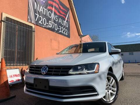 2018 Volkswagen Jetta for sale at Nations Auto Inc. II in Denver CO