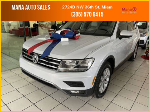 2018 Volkswagen Tiguan for sale at MANA AUTO SALES in Miami FL