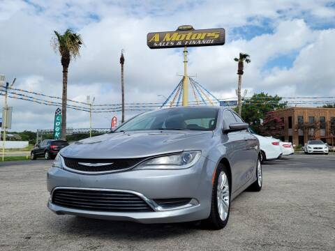 2015 Chrysler 200 for sale at A MOTORS SALES AND FINANCE in San Antonio TX