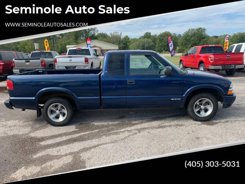 1999 Chevrolet S-10 for sale at Seminole Auto Sales in Seminole OK