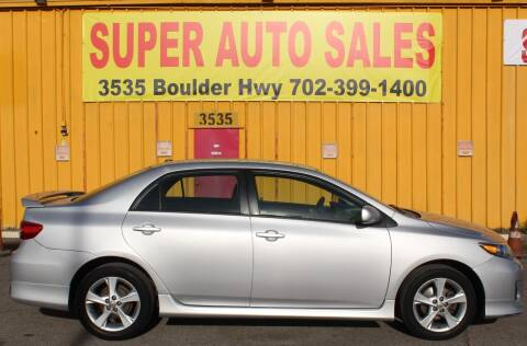 2011 Toyota Corolla for sale at Super Auto Sales in Las Vegas NV