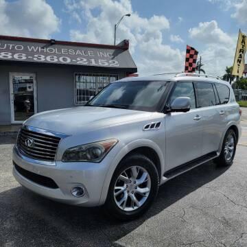 2011 Infiniti QX56 for sale at America Auto Wholesale Inc in Miami FL