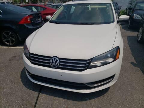 2013 Volkswagen Passat for sale at Jimmys Auto INC in Washington DC