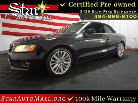 2012 Audi A5 for sale at STAR AUTO MALL 512 in Bethlehem PA