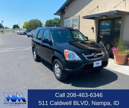 2003 Honda CR-V for sale at Western Mountain Bus & Auto Sales in Nampa ID