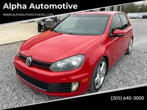2010 Volkswagen GTI for sale at Alpha Automotive in Odenville AL
