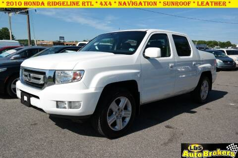 2010 Honda Ridgeline for sale at L & S AUTO BROKERS in Fredericksburg VA