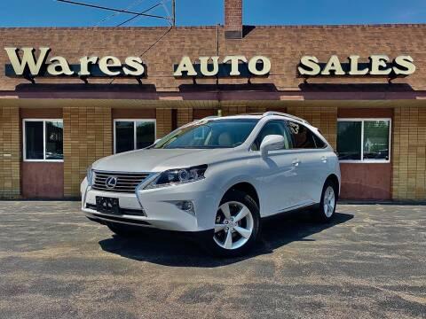 2013 Lexus RX 350 for sale at Wares Auto Sales INC in Traverse City MI