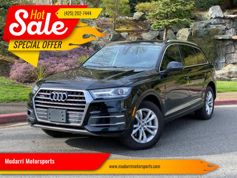 2018 Audi Q7 for sale at Mudarri Motorsports in Kirkland WA
