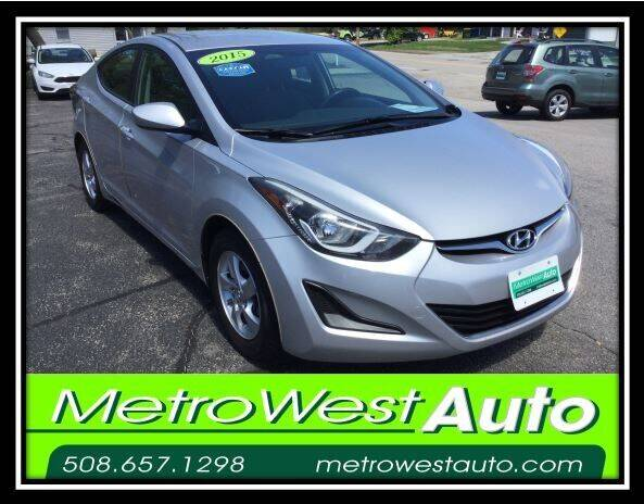 2015 Hyundai Elantra for sale at Metro West Auto in Bellingham MA