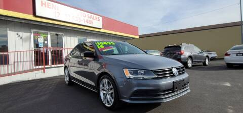 2016 Volkswagen Jetta for sale at Henry's Autosales, LLC in Reno NV