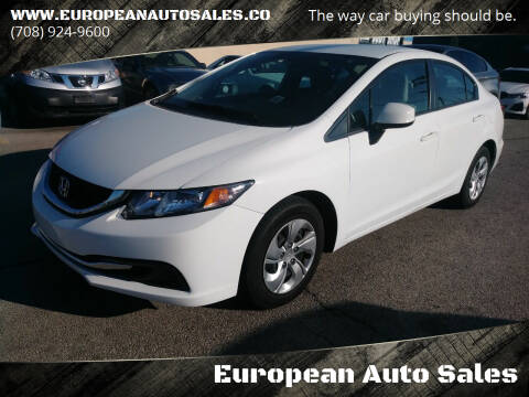 2013 Honda Civic for sale at European Auto Sales in Bridgeview IL