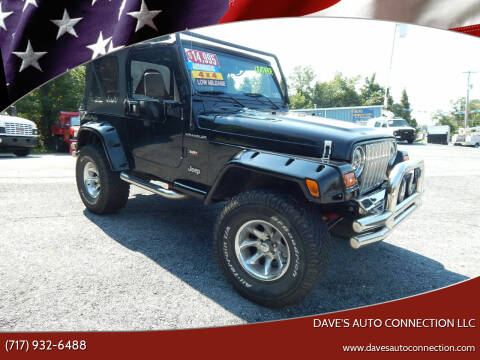 2002 Jeep Wrangler for sale at Dave's Auto Connection LLC in Etters PA