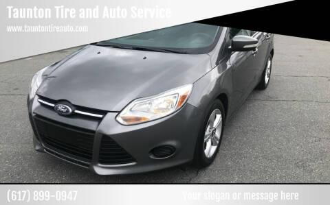 2013 Ford Focus for sale at Taunton Tire and Auto Service in Taunton MA