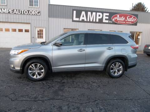 2015 Toyota Highlander for sale at Lampe Auto Sales in Merrill IA