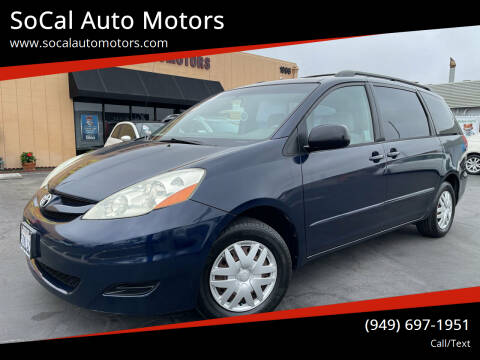 2006 Toyota Sienna for sale at SoCal Auto Motors in Costa Mesa CA
