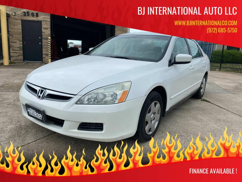 2006 Honda Accord for sale at BJ International Auto LLC in Dallas TX