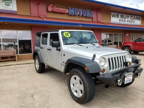 2008 Jeep Wrangler Unlimited for sale at Ohana Motors in Lihue HI