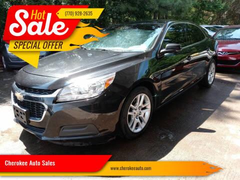 2014 Chevrolet Malibu for sale at Cherokee Auto Sales in Acworth GA
