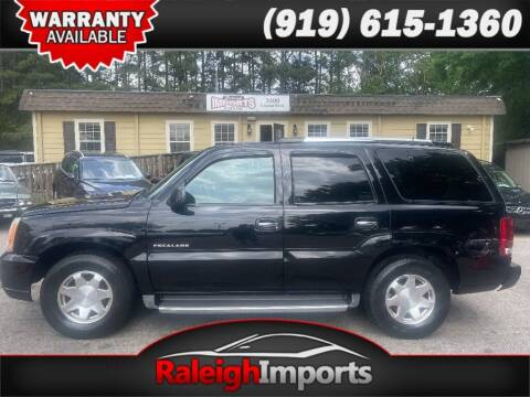 2002 Cadillac Escalade for sale at Raleigh Imports in Raleigh NC