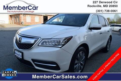 2015 Acura MDX for sale at MemberCar in Rockville MD