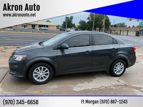 2017 Chevrolet Sonic for sale at Akron Auto - Fort Morgan in Fort Morgan CO
