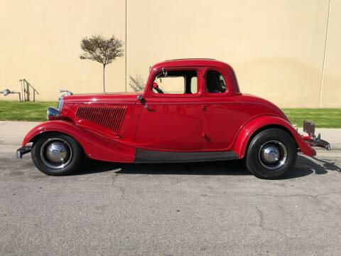 1934 Ford 5 Window Coupe for sale at HIGH-LINE MOTOR SPORTS in Brea CA