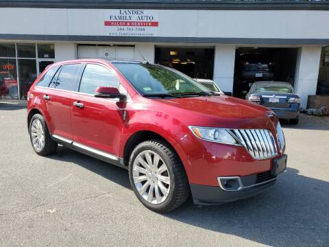 2013 Lincoln MKX for sale at Landes Family Auto Sales in Attleboro MA