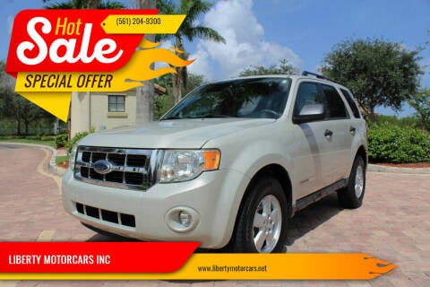 2008 Ford Escape for sale at LIBERTY MOTORCARS INC in Royal Palm Beach FL