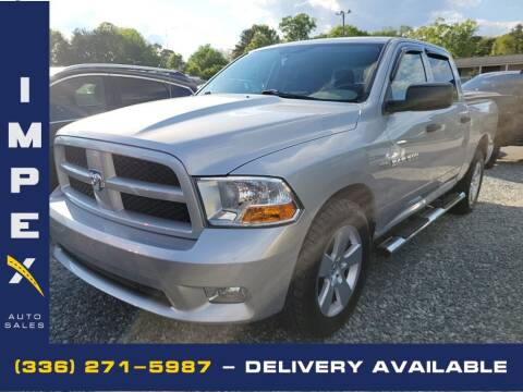 2012 RAM Ram Pickup 1500 for sale at Impex Auto Sales in Greensboro NC