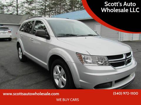 2014 Dodge Journey for sale at Scott's Auto Wholesale LLC in Locust Grove VA