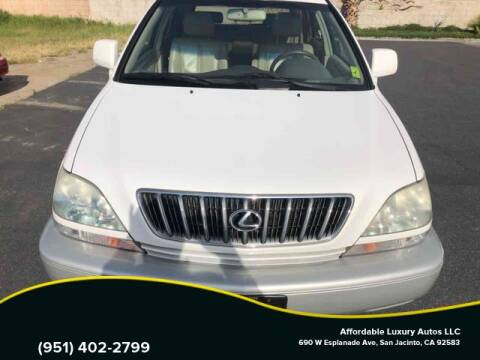 2001 Lexus RX 300 for sale at Affordable Luxury Autos LLC in San Jacinto CA