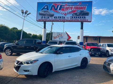 2017 Nissan Maxima for sale at ANF AUTO FINANCE in Houston TX