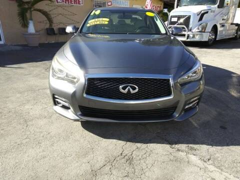 2014 Infiniti Q50 for sale at VALDO AUTO SALES in Miami FL