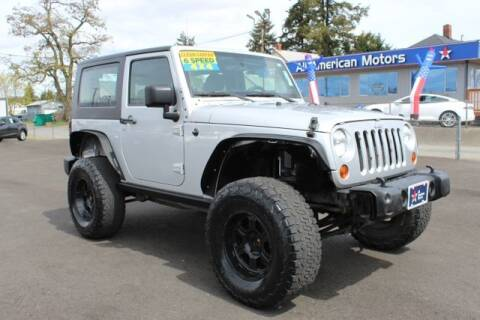 2011 Jeep Wrangler for sale at All American Motors in Tacoma WA