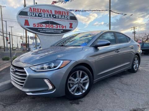2017 Hyundai Elantra for sale at Arizona Drive LLC in Tucson AZ