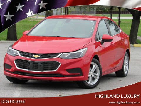 2018 Chevrolet Cruze for sale at Highland Luxury in Highland IN