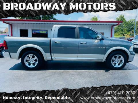 2010 Dodge Ram Pickup 1500 for sale at BROADWAY MOTORS in Van Buren AR