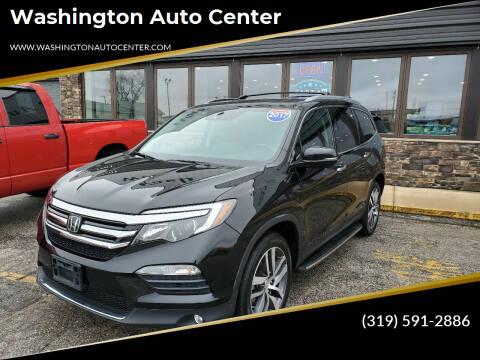 2017 Honda Pilot for sale at Washington Auto Center in Washington IA
