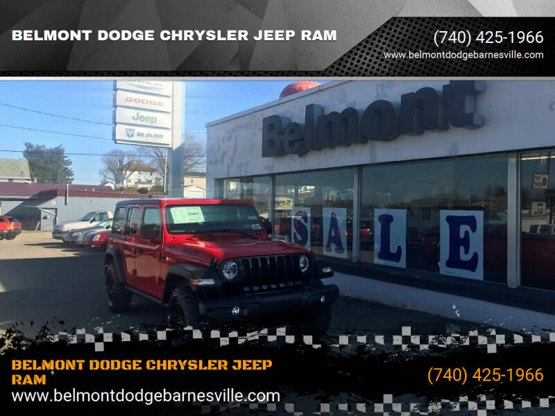 2021 Jeep Wrangler Unlimited for sale at BELMONT DODGE CHRYSLER JEEP RAM in Barnesville OH