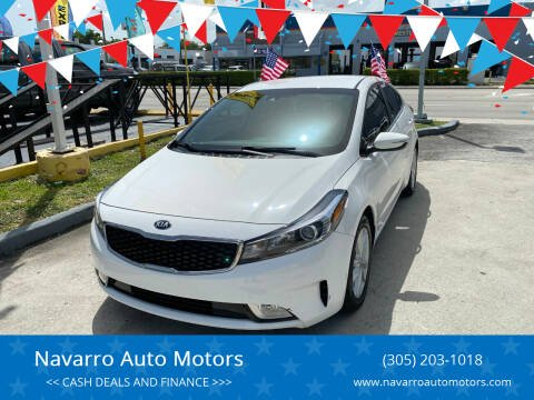 2017 Kia Forte for sale at Navarro Auto Motors in Hialeah FL