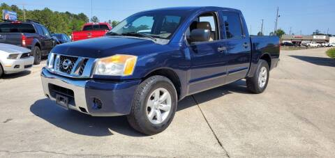 2012 Nissan Titan for sale at WHOLESALE AUTO GROUP in Mobile AL