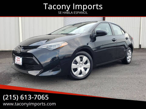 2018 Toyota Corolla for sale at Tacony Imports in Philadelphia PA