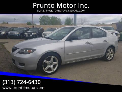 2008 Mazda MAZDA3 for sale at Prunto Motor Inc. in Dearborn MI