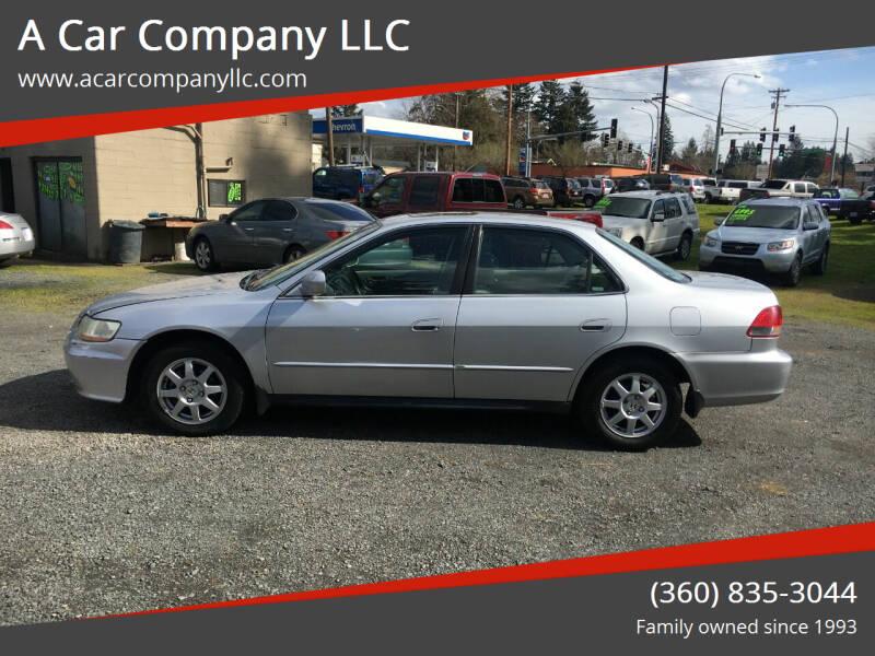 2002 Honda Accord for sale at A Car Company LLC in Washougal WA
